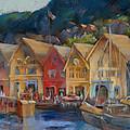 Bergen Bryggen In The Early Morning by Joan  Jones