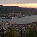 Bergen Sunset Panorama by Benjamin Reed