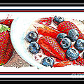 Berries And Yogurt Illustration - Food - Kitchen by Barbara Griffin