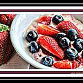 Berries And Yogurt Intense - Food - Kitchen by Barbara Griffin