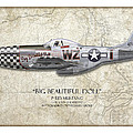 Big Beautiful Doll P-51d Mustang - Map Background by Craig Tinder