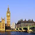 Big Ben and Westminster bridge Print by Elena Elisseeva