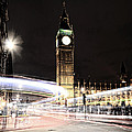 Big Ben With Light Trails by Jasna Buncic