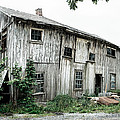 Big Old Barn - Rustic - Agricultural Buildings Print by Gary Heller