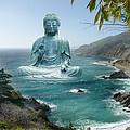 Big Sur Tea Garden Buddha Print by Alixandra Mullins