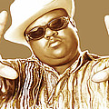 Biggie Smalls Stylised Pop Art Colour Drawing Poster by Kim Wang