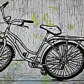 Bike 5 On Map by William Cauthern