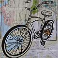 Bike 6 On Map by William Cauthern