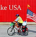 Bike USA Print by Lorna Rogers Photography