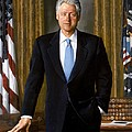 Bill Clinton Portrait by Tilen Hrovatic
