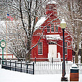 Billie Creek Village Winter Scene by Virginia Folkman