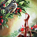 Bird and berries Poster by Gina Femrite