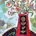Bird Blossom Vase by Diane Fine