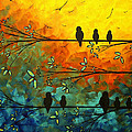 Birds Of A Feather Original Whimsical Painting by Megan Duncanson