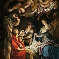 Birth Of Christ Adoration Of The Shepherds by Peter Paul Rubens