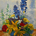 Birthday Flowers 1 by Brian  Pinkey