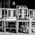 Black And White Chairs by Sonja Quintero