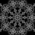Black and White Medallion 11 Print by Angelina Vick