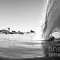Black And White Santa Cruz Wave by Paul Topp