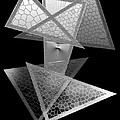 Black And White Triangles by Mario Perez