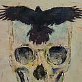 Black Crow Print by Michael Creese