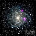 Black Holes In Spiral Galaxy Nasa by Rose Santuci-Sofranko