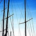 Black N Blue Hour Of Sailing Ships by Rosemarie E Seppala
