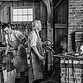 Blacksmith And Apprentice 2 Bw by Steve Harrington