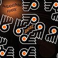 Bleeding Orange and Black - Flyers Print by Trish Tritz