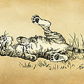 Bliss In The Grass by Evie Cook
