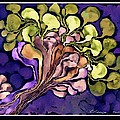 Blossom of Spring    Purple Print by Cathy Peterson