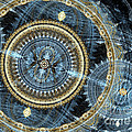 Blue And Gold Mechanical Abstract by Martin Capek