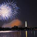 Blue And White O'er Washington D.c. by Steven Barrows
