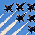 Blue Angels Overhead by Benjamin Yeager