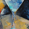 Blue Art Martini by Michael Creese