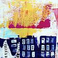 Blue Buildings by Linda Woods