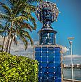 Blue Crown statue Miami downtown Print by Ian Monk