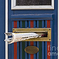 Blue Door Print by Heiko Koehrer-Wagner