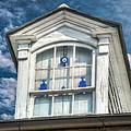 Blue Glass In Window by Brenda Bryant