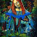 Blue Madonna In Tree by Genevieve Esson