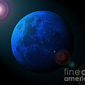 Blue Moon Digital Art Print by Al Powell Photography USA