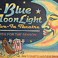 Blue Moon Light Print by Sherry Dooley