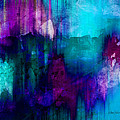 Blue Rain  Abstract Art   by Ann Powell