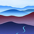 Blue Ridge Blue Road by Catherine Twomey