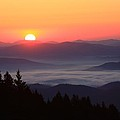 Blue Ridge Parkway Sea of Clouds Print by Michael Weeks