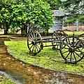 Blue Ridge Parkway Vintage Wagon In The Rain I by Dan Carmichael