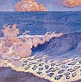 Blue Seascape Wave Effect by Georges Lacombe