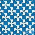 Blue Twirl by Linda Woods