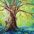 Bluebonnets Under The Oak by David G Paul
