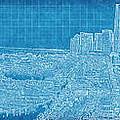 Blueprint Of Downtown Miami by Joe Myeress
